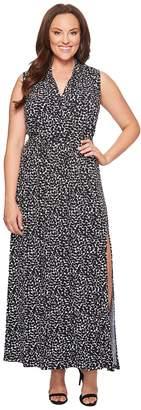 MICHAEL Michael Kors Size Mini Finy Slit Maxi Dress Women's Dress