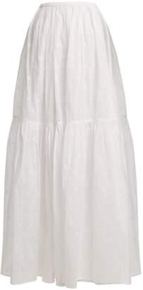 Mes Demoiselles Organdy Glor embroidered skirt