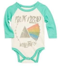 Rowdy Sprout Baby's Pink Floyd Bodysuit - Cream And Spring Green - Size 6-12 Months