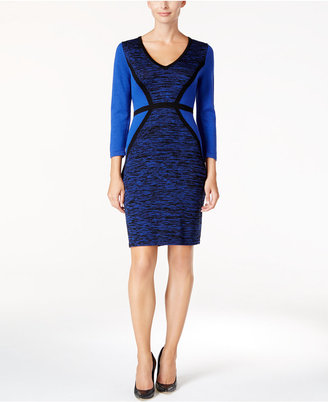 Calvin Klein Colorblocked Sweater Dress $134 thestylecure.com