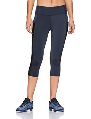 Oasis Sunday Women's Tights Highwaist Yoga Capri Legging Pants Running Workout Activewear with Side Pocket