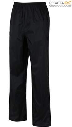 Next Mens Regatta Black Pack It Waterproof Overtrouser