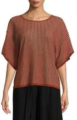 Eileen Fisher Jewel Neck Organic Linen Top