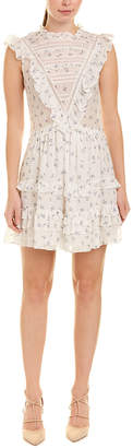 Rebecca Taylor Spring Floral Silk-Blend A-Line Dress