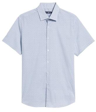 Stone Rose Trim Fit Teardrop Sport Shirt