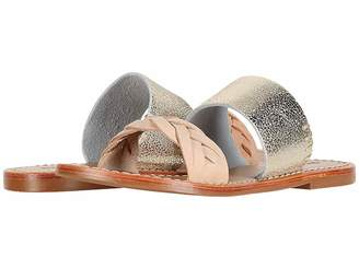 Soludos Metallic Braided Slide Sandal