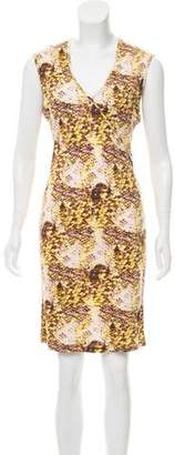 Equipment Silk Sleeveless Printed Knee-Length Dress