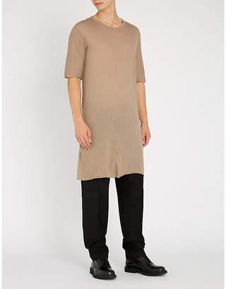 Boris Bidjan Saberi Raw-hem oversized cotton T-shirt
