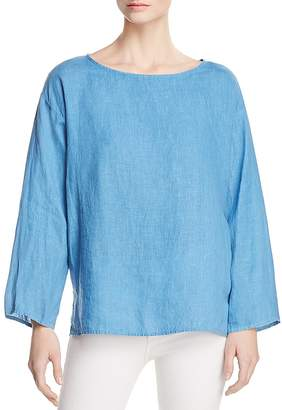 Eileen Fisher Organic Linen Boxy Top - 100% Exclusive