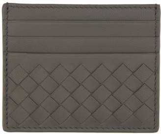 Bottega Veneta Grey Intrecciato Card Holder