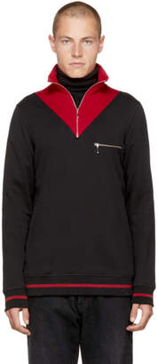 Cmmn Swdn Black and Red Victor Turtleneck