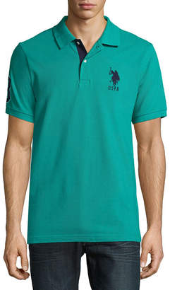 U.S. Polo Assn. USPA Short Sleeve Big Pony Contrast Collar Polo Shirt