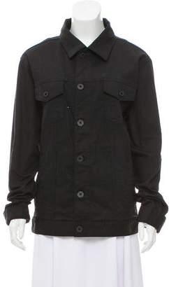 DKNY Long Sleeve Button-Up Jacket