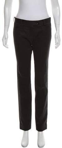 Christian Dior Mid-Rise Straight-Leg Pants