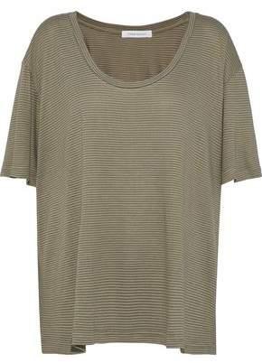 Pierre Balmain Striped Cotton-Blend Jersey T-Shirt
