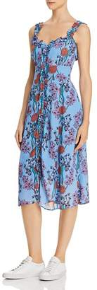 ASTR the Label Floral Ruffle Midi Dress