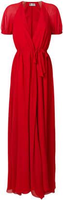 Lanvin wrap-style long dress