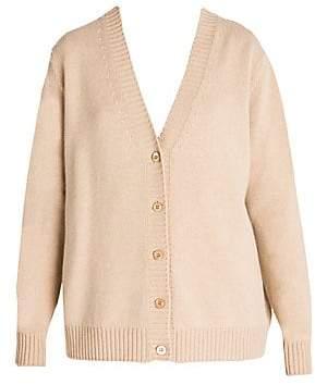 Prada Women's Cashmere Oversized Button Front Cardigan