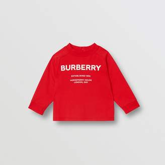 Burberry (バーバリー) - Burberry ロングスリーブ ホースフェリープリント コットントップ