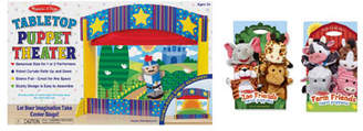 Melissa & Doug Let's Play Puppet Pal Theater Bundle