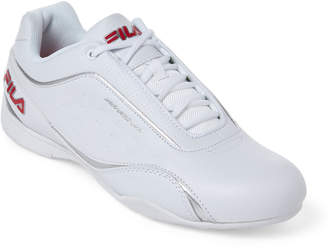Fila White & Red Kalien Motorsport Low-Top Sneakers