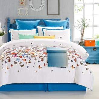 Butterfly 8-piece 300 Thread Count Bed Set