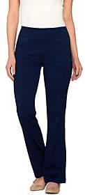 Denim & Co. Active Petite Denim Yoga Pants withFront Pockets