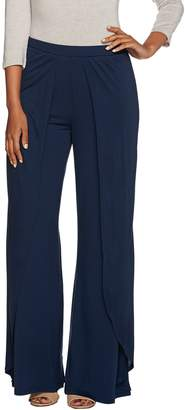 Halston H By H by Regular Fly Away Jersey Wide Leg Pants