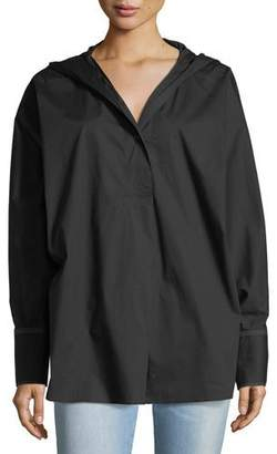 Elizabeth and James Carson Long-Sleeve Hooded Poplin Shirt