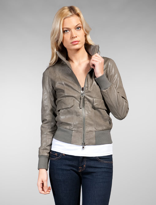 Mackage Cataline Leather Bomber Jacket