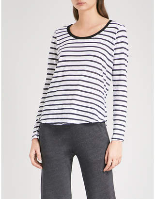 Sundry Ringer striped cotton-jersey top