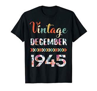 Floral Vintage December 1945 Shirt Birthday T shirt Gifts