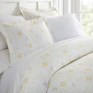 Noble Linens Premium Ultra Soft 3 Piece Spring Vines Print Duvet Cover Set