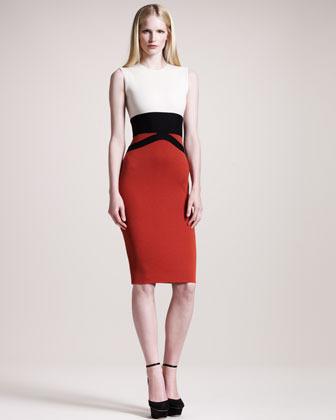 Giambattista Valli Sleeveless Colorblock Dress