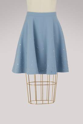 Miu Miu Crystals wool skirt
