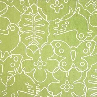 notNeutral Season Lotus Green/White Area Rug