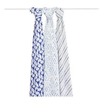 Aden Anais aden + anais Bambou Ink Swaddling Cloth 120x120cm - Pack of 3