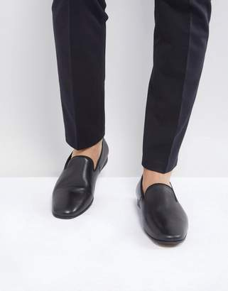 Zign Shoes Leather Smart Loafer In Black