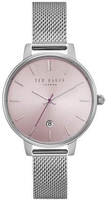Ted Baker NR  Ladies Silver 'Kate' Analogue Mesh Bracelet Watch Te15162010