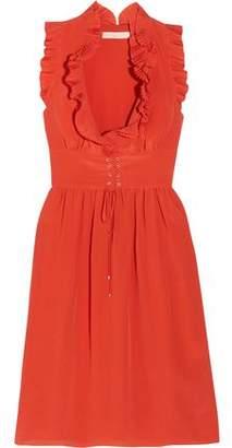 Vanessa Bruno Gimmy Ruffled Silk Crepe De Chine Dress