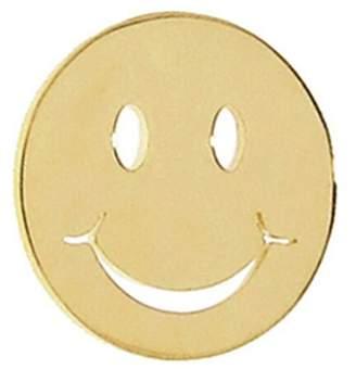 Sydney Evan Single Happy Face Stud Earring