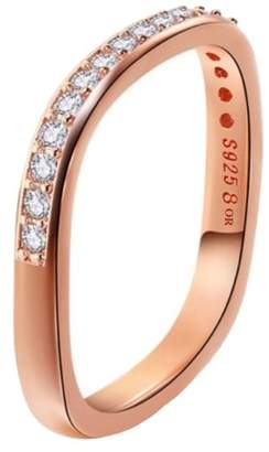 Opes Robur - Rose Gold Vermeil Paved Stacking Ring