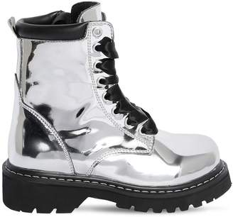 Diesel Mirror Leather Combat Boots