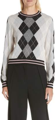Rag & Bone Dex Argyle Merino Wool Sweater