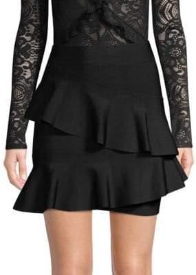 BCBGMAXAZRIA Knit Ruffle Skirt