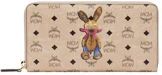 MCM Rabbit Zip Around Wallet Visetos Large Beige