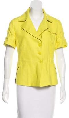 Akris Punto Linen Short Sleeve Jacket