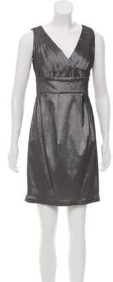 Calvin Klein Collection Pleated Mini Dress w/ Tags Silver Pleated Mini Dress w/ Tags