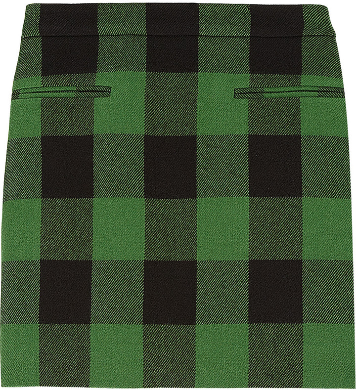 Stella McCartney Tive plaid wool mini skirt
