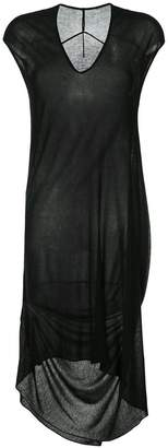 Masnada v-neck asymmetric dress
